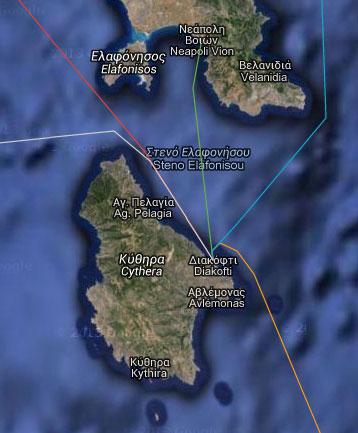 Anreise nach Kythira -Fährverbindungen