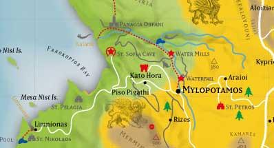 Lagekarte Mylopotamos